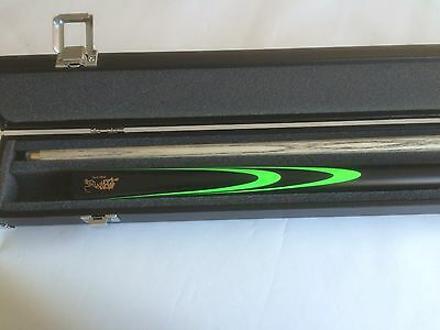 NEW 3/4 Panther Snookler Cue And Case Package - Zesty Green