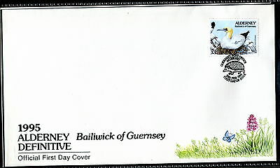 1994 Alderney £2 Flower Definitives FDC Guernsey Hedgehog pm. Birds