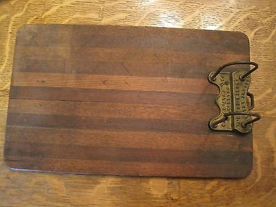 Antique Shannon s&f Arch pat 1879 Stacked Wooden Clipboard File 14 3/4 x 9 wood