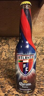 MX Two Atlante FC Corona Extra Limited Edition Soccer Beer Bottles Collectible