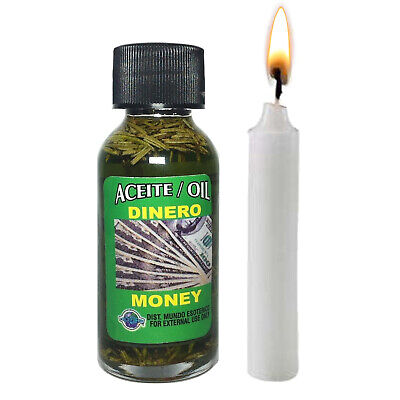 SPIRITUAL MONEY OIL 1oz Success Business Anointing Hoodoo Wicca Spell  Witchcraft