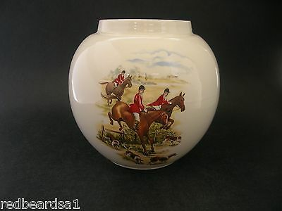Henry W King Vintage China Twinings Tea Caddy Ginger Jar Fox Hunting Scene c1950
