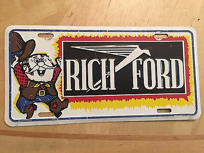 Rich Ford Dealer Albuquerque New Mexico Front Booster License Plate Richardson