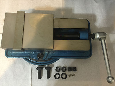 "6"" Lock Down Lockdown Precision Milling Machine Vise with Swivel Base"
