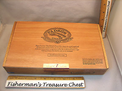 "PADRON WOOD CIGAR BOX PADRON 6000 BRAND 10 3/4"" x 6 1/8"" x 1 7/8"""