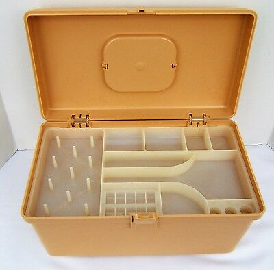 Vintage Wilson WilHold PLASTIC SEWING STORAGE BOX CADDY With 1 TRAY