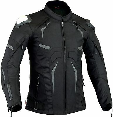 Steel Armour Mens Motorbike Protective Jacket Motorcycle Waterproof Coat CE