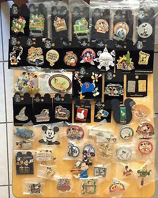 DISNEY TRADING PIN 50 LOT NEW DA CAST LE HTF and MORE NO DUPLICATES PINS