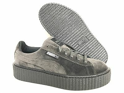 meet 568c6 5bcb7 NEW PUMA FENTY Rihanna Creepers Velvet Glacier Gray Women's Shoes All Sizes