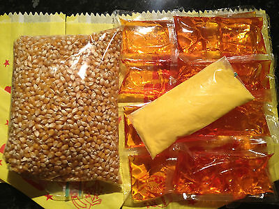 Cinema Popcorn Mega Bulk Pack! Makes Approx 160 bags of Popcorn! Oil and Salt