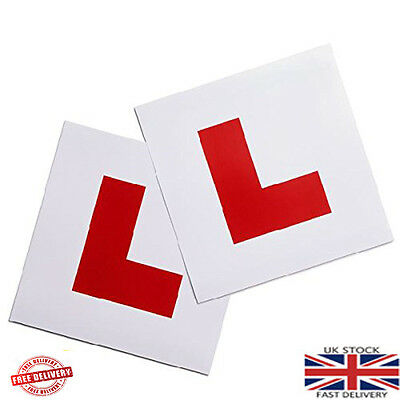 New 2 Pack Fully Magnetic L Plate Learning Car Plates Exterior Secure & Safe