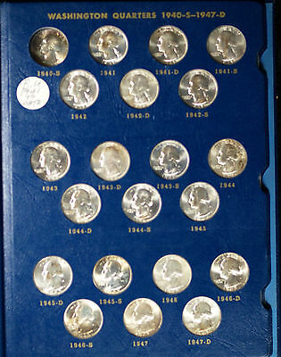 Partial Set of Uncirculated Washington Silver Quarters - 1941-1964 - 60 Coins!!
