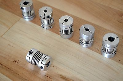 Gerwah DKN15 Zero-Backlash Bellows Motor Coupling 5mm x 8mm Bore CNC Stepper DIY