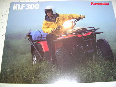 1  1988 Kawasaki KLF300 Brochure NOS 4 Pages.