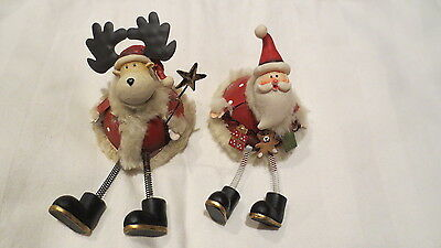 Santa & Reindeer Christmas Candle Snuffers Toppers