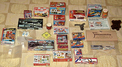 Vintage Dollhouse Miniature LARGE Lot of 29 ACCESSORIES BOXED TOYS Collectibles