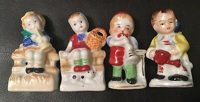 Lot of Four Miniature Vintage 'MADE IN OCCUPIED JAPAN' Figurines
