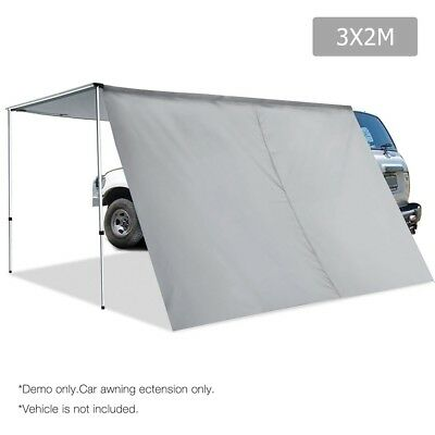 Weisshorn 2M X 3M Side Roof Car Awning Extension w/ UV Protection 4WD Camping