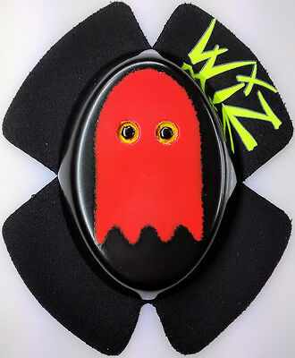 Wiz Pacman Ghost Blinky Red Knee Sliders Bsb Tt Wsb Motogp Knee Sliders