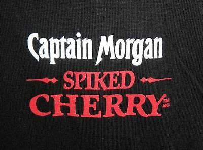 Captain Morgan Spiked Cherry Rum Black T Shirt Extra Large One Size Fits All