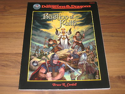 AD&D 2nd Edition Bastion of Faith Offical Game Accessory 1999 TSR 11442 TOP
