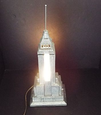 Vintage 1984 Sarsaparilla Art Deco Empire State Building Lamp