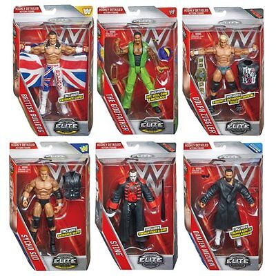 WWE Elite Action Figure Series 39 Dolph Ziggler, Sting, The Godfather & More....