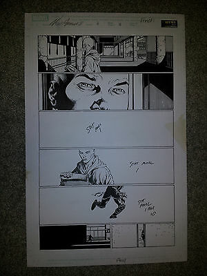 Finch NEW AVENGERS 11 pg 11 HISTORIC 1'ST RONIN APP ISSUE with RONIN on page