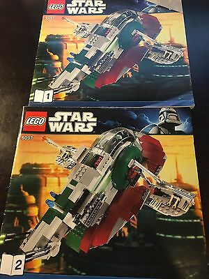 LEGO Star Wars 8097 SLAVE I MANUALS ONLY-USED