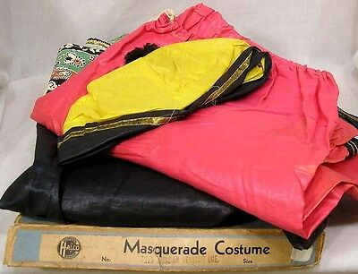 Vintage 1940s Halloween Costume Russian Peasant in Orig Halco Box