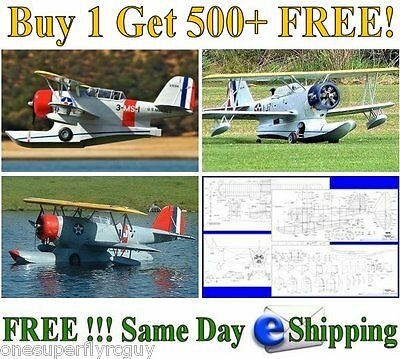 Grumman J2F Duck Giant RC Airplane Full Size Plans & Templates in PDF Format