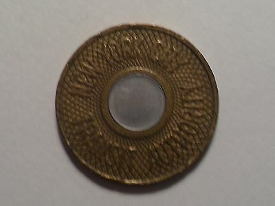 "Vintage New York City Transit Token Coin ""bullseye"" Nyc Subway Collectible!!"
