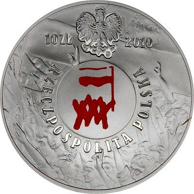 Poland 10 zlotych 2010, Polish August of 1980, silver coin