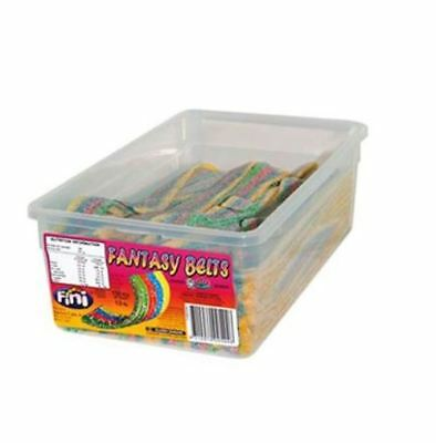 1.2kg BOX OF FINI FANTASY BELTS! - FRUIT FLAVOURED - PRODUCT OF SPAIN - SOUR