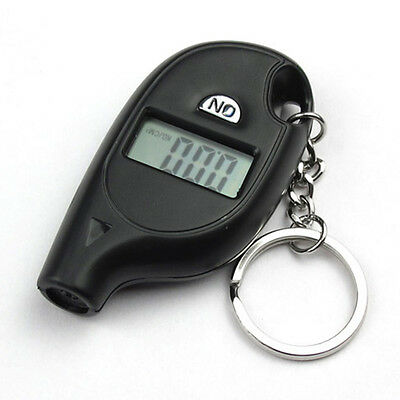 Car Auto Motorcycle Keychain LCD Digital Tire Tyre Air Pressure Gauge Portable