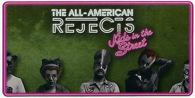 ALL-AMERICAN REJECTS LOT OF 43 VINYL STICKERS, Kids in the Street; promo sticker