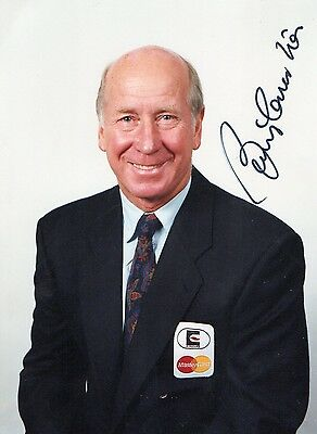Authentic Signed Bobby Charlton 6X4 Photo.manchester United...real Signature.coa