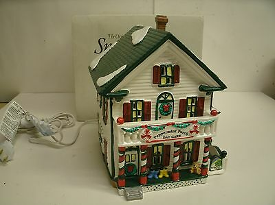 "Dept 56 Snow Village Lighted ""Peppermint Porch Daycare"" #5485-2"