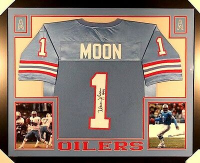 PREMIUM FRAMED WARREN Moon Autographed Houston Oilers Jersey Signed ... 218663ef1