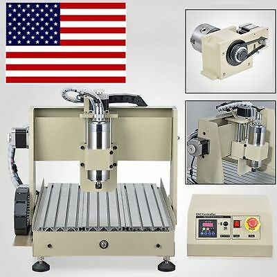 3040 800W 4Axis CNC ROUTER engraver Machine Milling Cutting Machine Wood Metal
