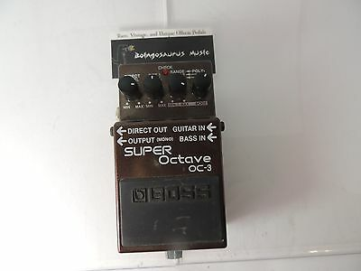 Boss Oc-3 Super Octave Guitar Effects Pedal Free Usa Shipping