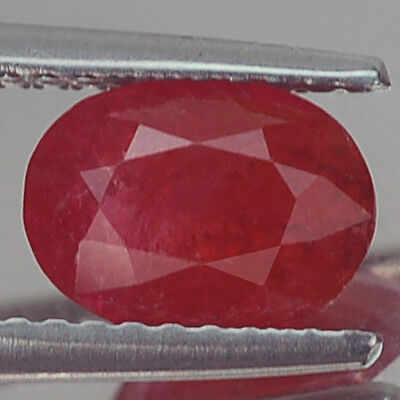 1.16Ct Certified Unheated Untreated Oval Red Ruby Natural