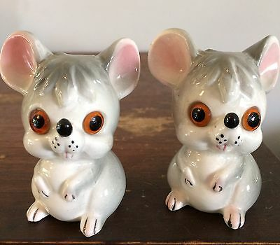 Vintage retro kitsch mice salt and pepper shakers - made in Japan