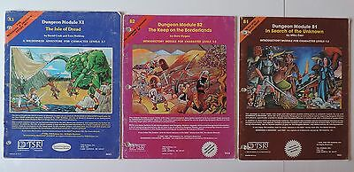 AD&D Advanced Dungeons & Dragons Dungeon modules B1  B2  X1  TSR 9023 9034 9043