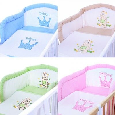 Baby Bedding 5 pcs complete set 135x100 Cot Bed 120x60 140x70 bumper duvet cover