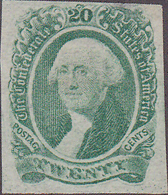 Confederate #13 George Washington Twenty Cent Stamp