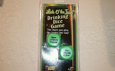 Drinking dice game: Luck O' the Irish beer pong