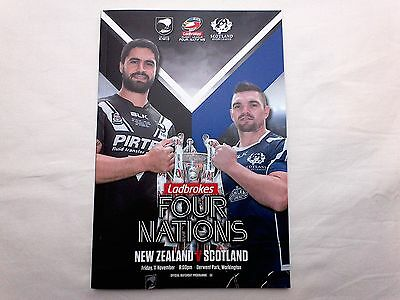 NEW ZEALAND v SCOTLAND Rugby League 4 Four Nations Programme 11 November 2016