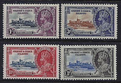 1935 Gilbert & Ellice Islands George V Silver Jubilee Set Of 4 Fine Mint Mnh/muh