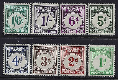 1940 Gilbert & Ellice Islands Postage Dues Set Of 8 Mint Hinged Mh/mm